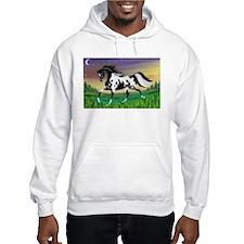 Crescent Moon Pinto Arabian Horse Hoodie