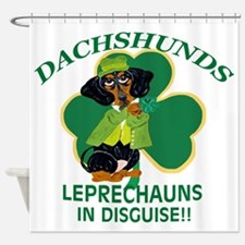 Dachshunds Are Leprechauns In Shower Curtain