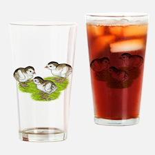 Purple Guinea Keets Drinking Glass