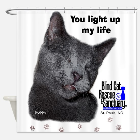 Poppy - light up my life Shower Curtain