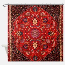 Red Persian Vintage Carpet Shower Curtain