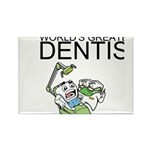 Worlds Greatest Dentist Rectangle Magnet (100 pack