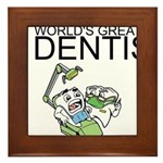 Worlds Greatest Dentist Framed Tile