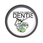 Worlds Greatest Dentist Wall Clock