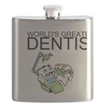 Worlds Greatest Dentist Flask