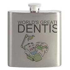 Worlds Greatest Dentist Flask