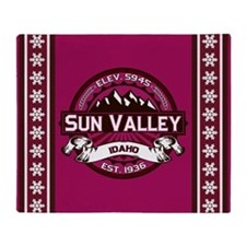 Sun Valley Raspberry Throw Blanket