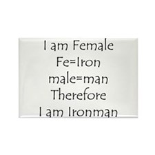 FemaIe Ironman Rectangle Magnet