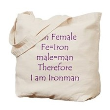 FemaIe Ironman Tote Bag