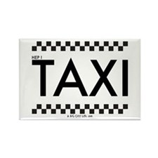 TAXI cab Rectangle Magnet
