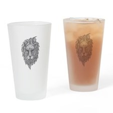 ABSTRACT LION Drinking Glass