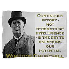 Continuous Effort - Churchill Pillow Sham