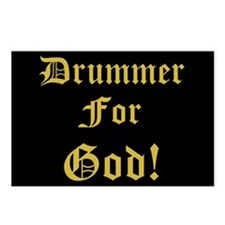 Christian Drummer For God Postcards (Package of 8)