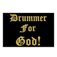Christian Drummer For God Postcards (Package of 8)
