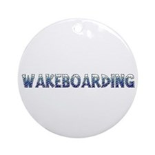 Wakeboarding Ornament (Round)