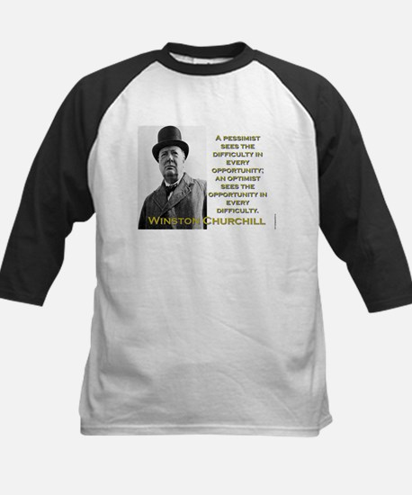 A Pessimist Sees The Difficulty - Churchill Tee