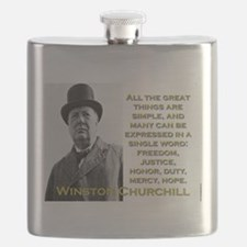 All The Great Things Are Simple - Churchill Flask