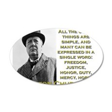 All The Great Things Are Simple - Churchill Wall Decal