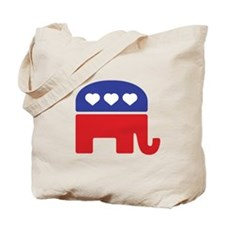 Republican Hearts Tote Bag