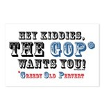GOP=Greedy Old Pervert  Postcards (Package of 8)