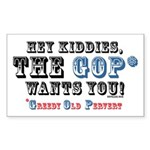 GOP=Greedy Old Pervert Rectangle Sticker