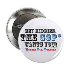 "GOP=Greedy Old Pervert 2.25"" Button (100 pack)"