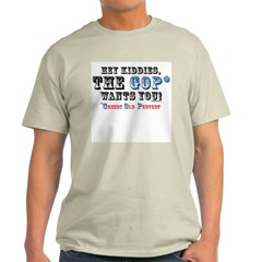 GOP=Greedy Old Pervert Ash Grey T-Shirt