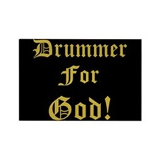 Christian Drummer God Rectangle Magnet