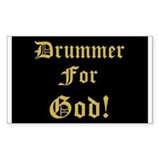 Christian Drummer God Rectangle Decal