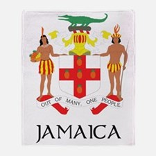 Coat of Arms of Jamaica Throw Blanket