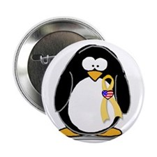"""Support Troops Penguin 2.25"""" Button (100 pack)"""
