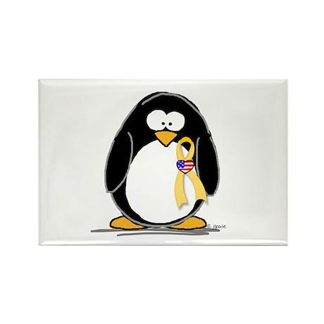 Support Troops Penguin Rectangle Magnet (10 pack)
