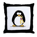 Support Troops Penguin Throw Pillow