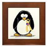 Support Troops Penguin Framed Tile