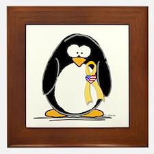 Support Troops Penguin Framed Tile