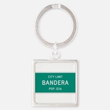 Bandera, Texas City Limits Square Keychain