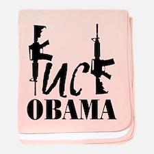 Fuck Obama baby blanket