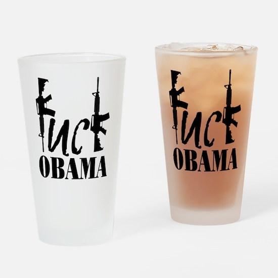 Fuck Obama Drinking Glass