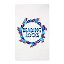 Reading Rocks 3'x5' Area Rug