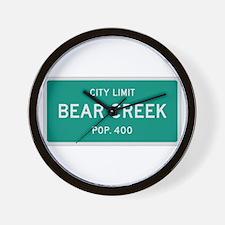 Bear Creek, Texas City Limits Wall Clock