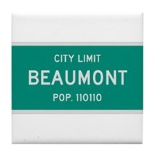 Beaumont, Texas City Limits Tile Coaster