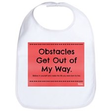 Obstacles Get Out of My Way Bib