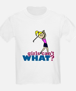 Girl Playing Golf T-Shirt