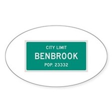 Benbrook, Texas City Limits Decal