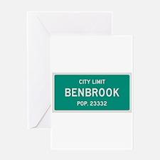 Benbrook, Texas City Limits Greeting Card