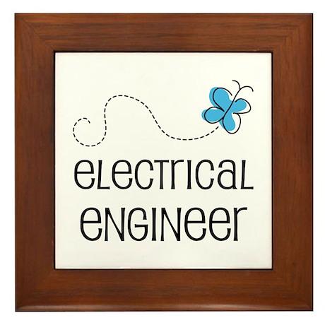 Cute Electrical engineer Framed Tile