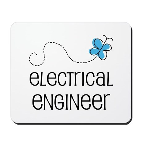 Cute Electrical engineer Mousepad by CuteOccupationTshirts