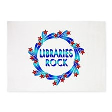 Libraries Rock Fun 5'x7'Area Rug