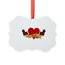 Yorkie Mom Ornament