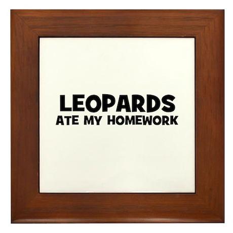 Leopards Ate My Homework Framed Tile